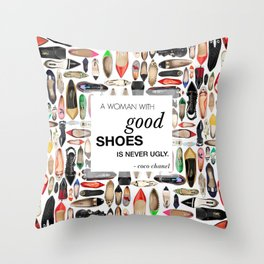 Shoeart,quote Throw Pillow