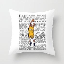 """Black Maamba"" Basketball Typography Throw Pillow"