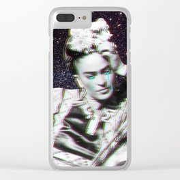 Frida in Space Clear iPhone Case