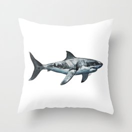Great White (c) Throw Pillow