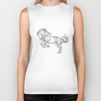 horse Biker Tanks featuring Horse by ShaMiLa