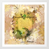 poem Art Prints featuring Love Poem by Lucia