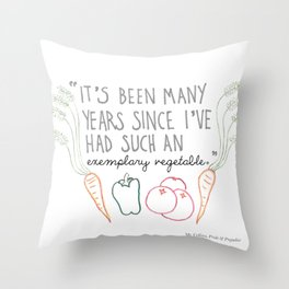 An Exemplary Vegetable Throw Pillow