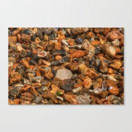 Wet Stones Canvas Print