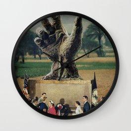Illuminati Inauguration  - Vintage Collage Wall Clock