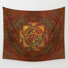Colorful Sri Yantra  / Sri Chakra Wall Tapestry