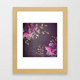 FLOWERS & GOLD  Framed Art Print