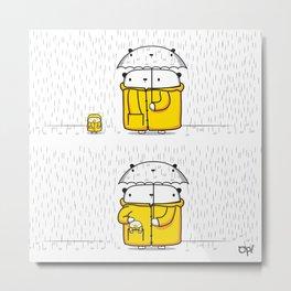 OPI raining Metal Print