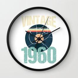 Retro Vintage 1960 60 th Birthday Record Vinyl Vintage Disco Bday Gift Wall Clock