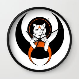 Cat from moon Wall Clock