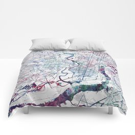 Philadelphia map Comforters