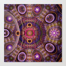Groovy tribal colourful patterns Canvas Print