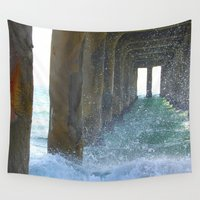 stiles Wall Tapestries featuring Under the Boardwalk by Kelly Stiles