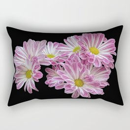 isolated daisy on black background Rectangular Pillow