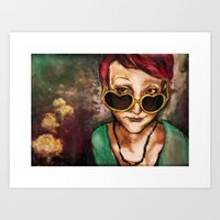 charmaine olivia Art Prints featuring Olivia by Hilary Dow
