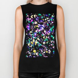 Abstract,splash pattern Biker Tank