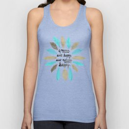 If Mama Ain't Happy – Turquoise & Gold Palette Unisex Tank Top