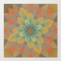 lotus flower Canvas Prints featuring Lotus by HK Chik