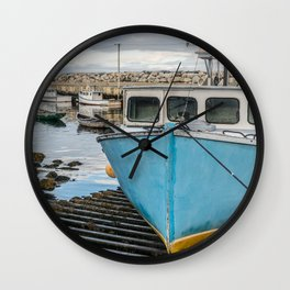 Safe in the Harbour Wall Clock