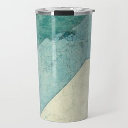 California State Map Blue Vintage Travel Mug