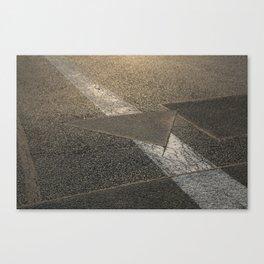concrete sunshine triangle arrow Canvas Print