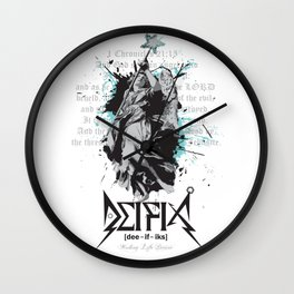 Deifix Angel of Mercy: 1 Chronicles 21:15 Wall Clock