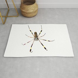 Watercolor Graphic 11, Spider Crawl, Golden Orb-weaver Snow Rug