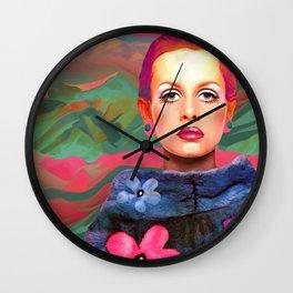 """She was always a Pop Girl (Twiggy)"" Wall Clock"