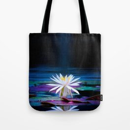 Moonlit Lotus Tote Bag