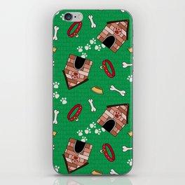 Dog Paradise in Green iPhone Skin