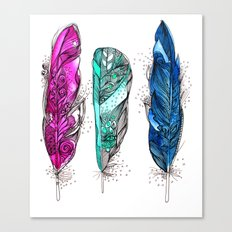 dream feathers 2 Canvas Print