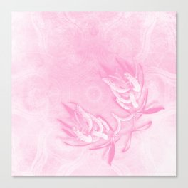 Wattle and kaleidoscope in pink Canvas Print