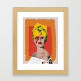 Brigitte Bowie Framed Art Print