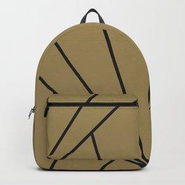 Diamond Series Sun Burst Charcoal on Gold Backpack