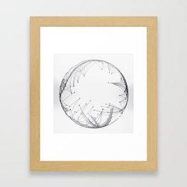 Minimal Geometric Circle Framed Art Print