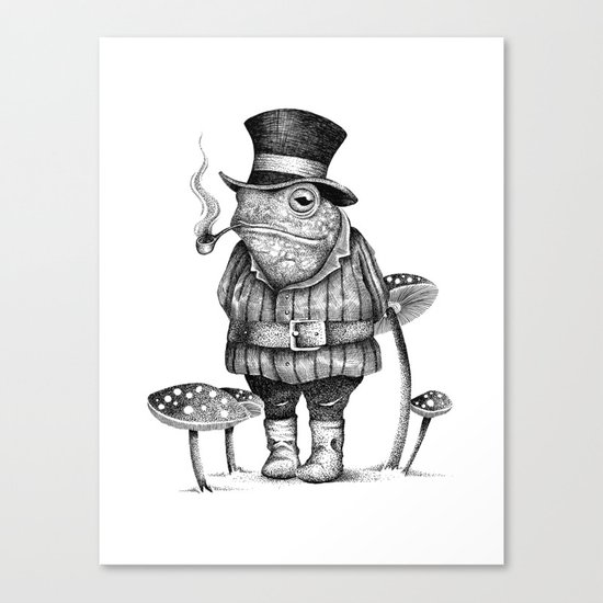 MISTER FROG Canvas Print