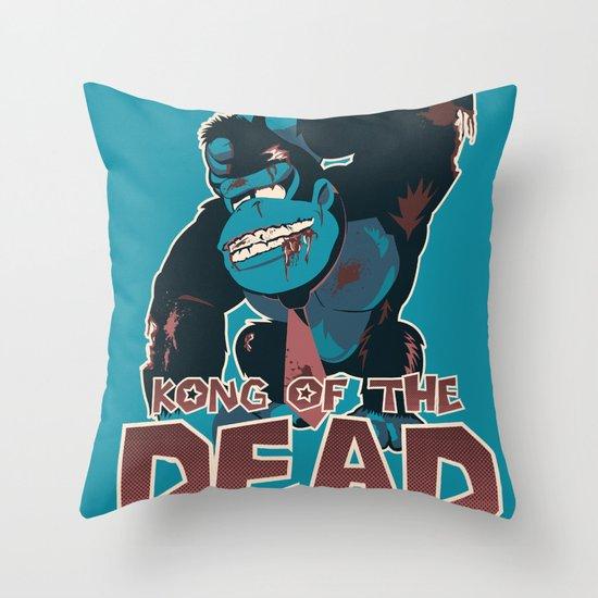 Kong of the Dead Throw Pillow