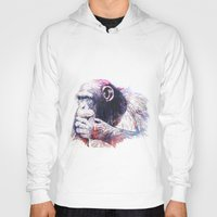 monkey Hoodies featuring Monkey by Cristian Blanxer