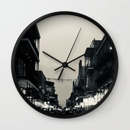 Black & White Bourbon Street Wall Clock