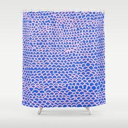 Noodle Doodle Blue Shower Curtain