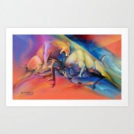 Buck Off Art Print