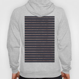 Elegant Chic Rose Gold Stripes and Navy Blue Hoody