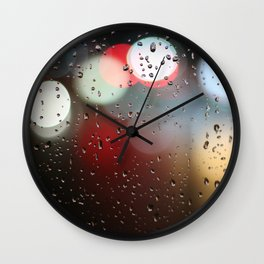 rain lights Wall Clock