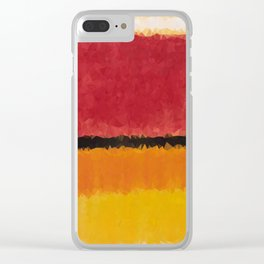 Untitled After Rothko Low Poly Geometric Triangles Clear iPhone Case