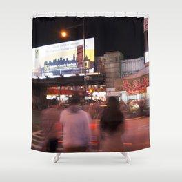 Flushing, NY Night Life Shower Curtain