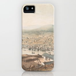 Vintage Pictorial Map of St Johns Newfoundland (1831) iPhone Case