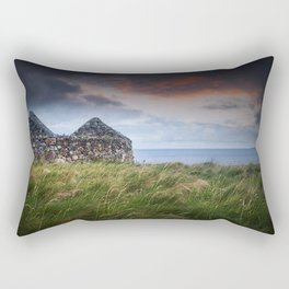 Ruin by the Sea Rectangular Pillow
