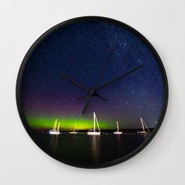 The Northern Lights in Door County Wall Clock