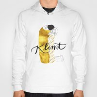 klimt Hoodies featuring Klimt golden by Henrique Nobrega