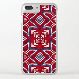 Pattern in Grandma Style #35 Clear iPhone Case